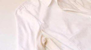 آموزش از بین بردن لکه عرق روی لباس سفید